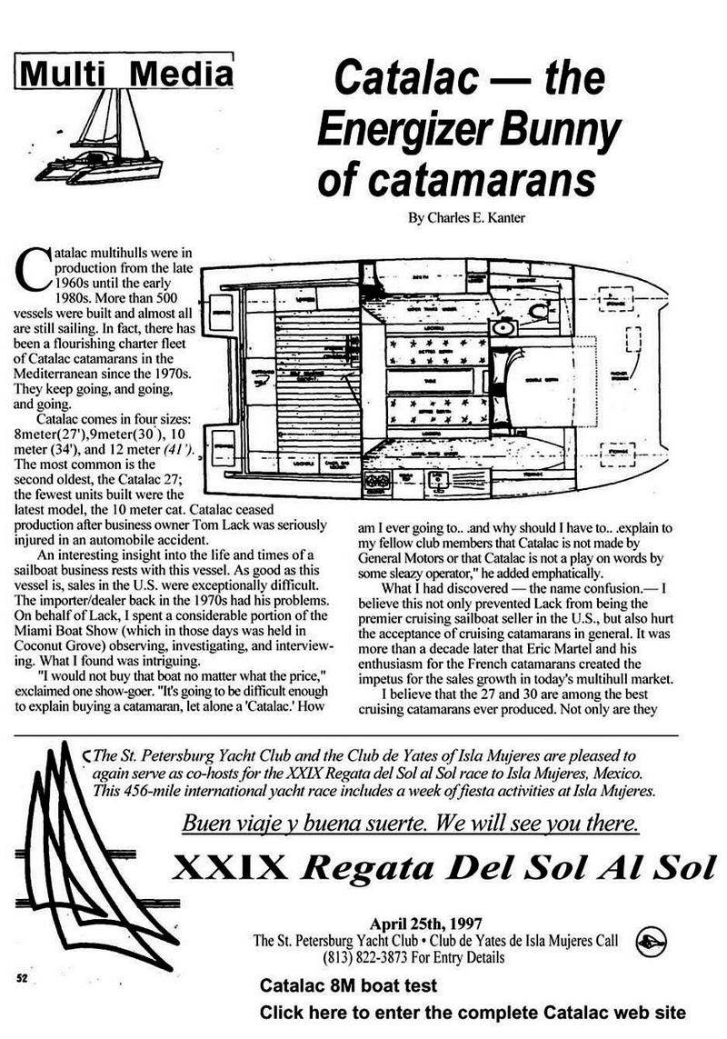 catamaran, Catalac 8M, Catalac 8M review