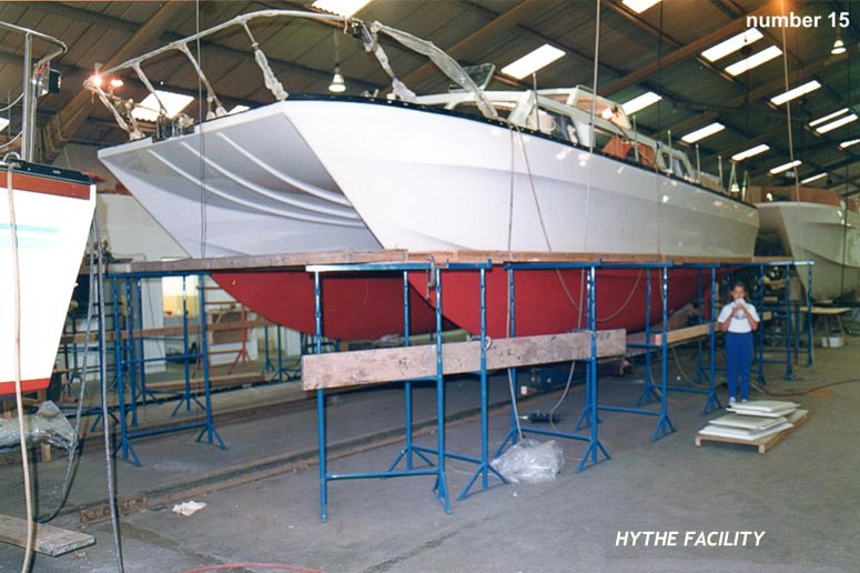 Catalac catamaran construction layup