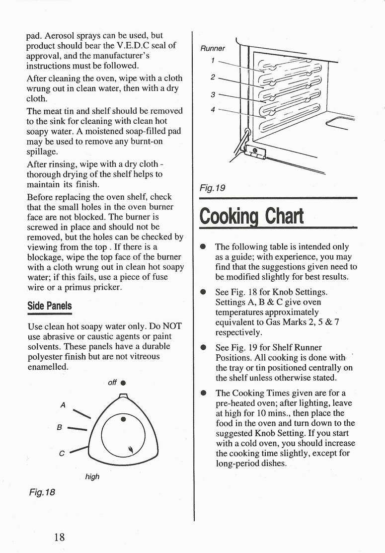 Flavel Vanessa marine cooker instructions